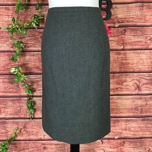 Talbots Skirt 8 Gray Wool Stretch Straight Mermaid